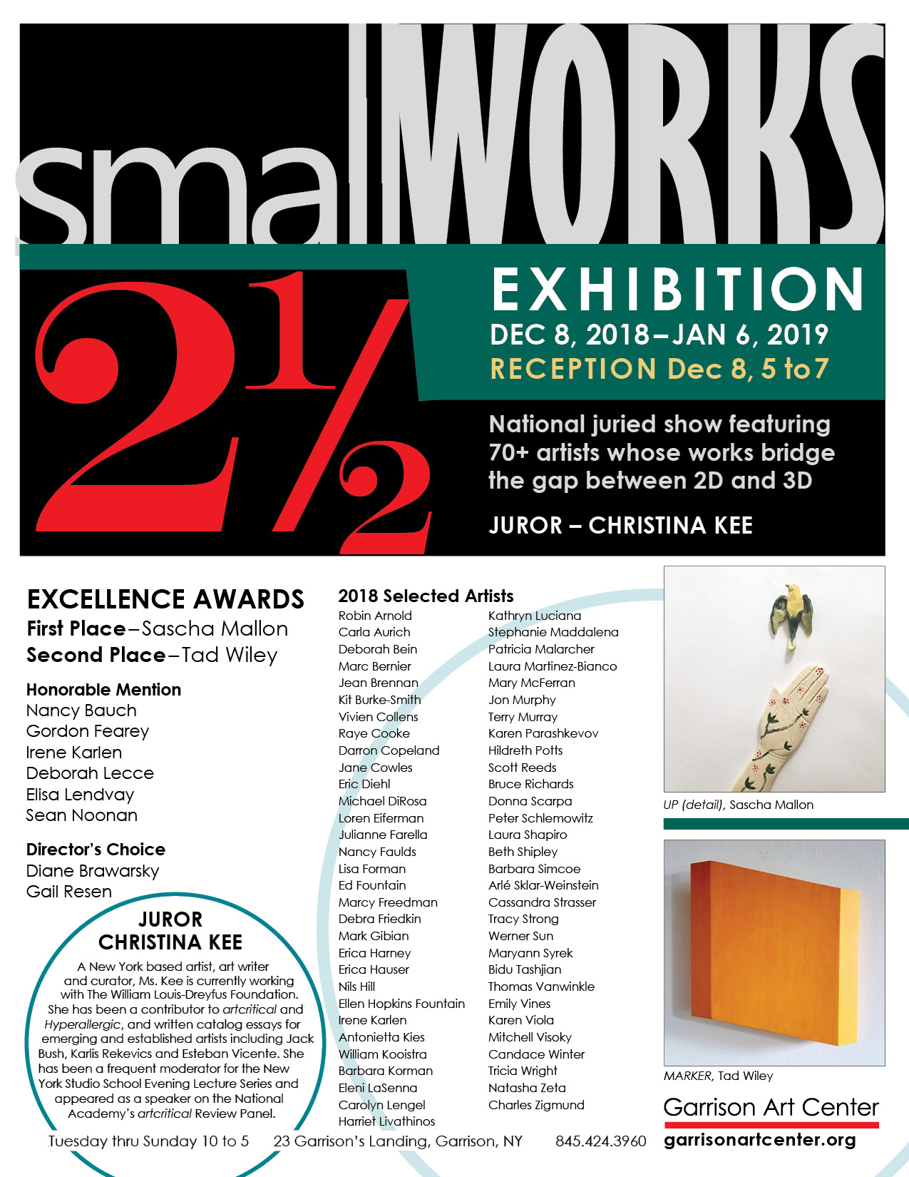 smallWORKS 2018 Poster FINA donna scarpa artist